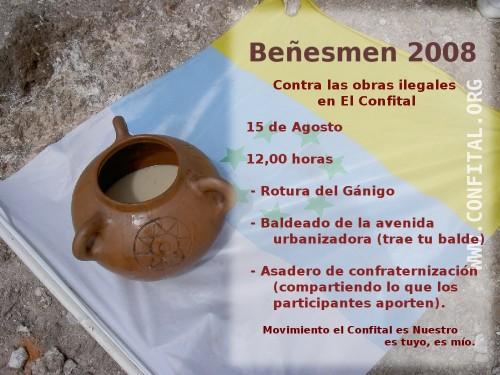 Beñesmen 2008 en El Confital, 15 de Agosto