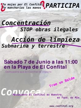 Concentración y Limpieza el 7 de junio a las 11 en El Confital
